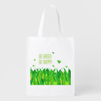 It sees green, sees happy market tote