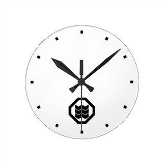 It shrinks in corner cutting angle, three round clock