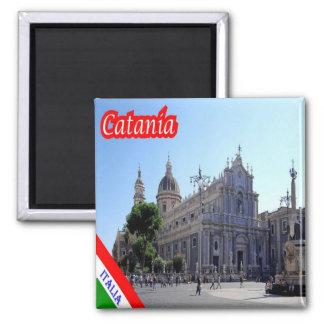 IT - Sicily - Catania 2 Inch Square Magnet