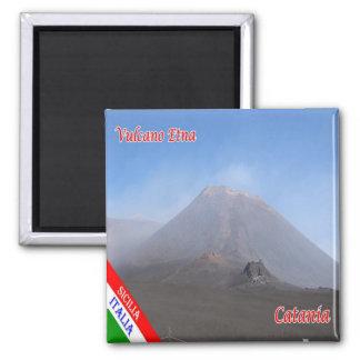 IT - Sicily - Catania - Etna 2 Inch Square Magnet
