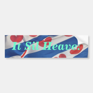 It Sil Heave! Bumper Sicker Fryslan Flag Bumper Sticker