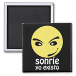 It smiles, I I exist 2 Inch Square Magnet