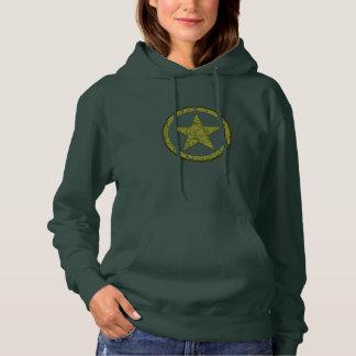 It stars Military man Hoodie