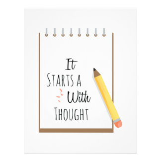 It Starts A With Thought Letterhead