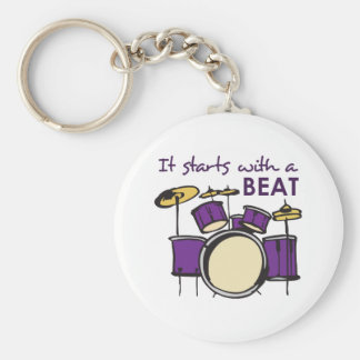 IT STARTS WITH A BEAT KEY CHAINS