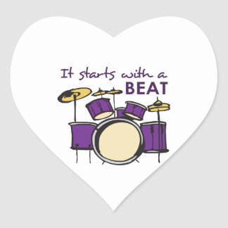 IT STARTS WITH A BEAT HEART STICKER