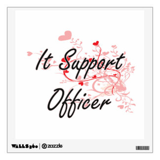 It Support Officer Artistic Job Design with Hearts Wall Skins