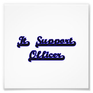 It Support Officer Classic Job Design Photo Print