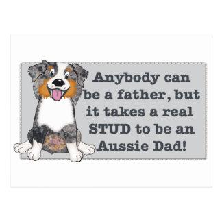 It take a stud to be an Aussie Dad Postcard