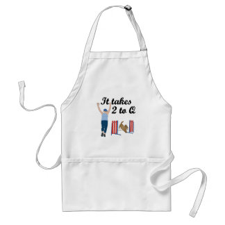 It Takes 2 To Q Adult Apron