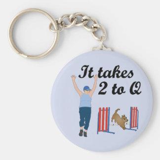 It Takes 2 To Q Keychain