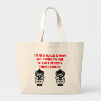It Takes 43 Muscles To Frown 17 To Smile But Only Large Tote Bag