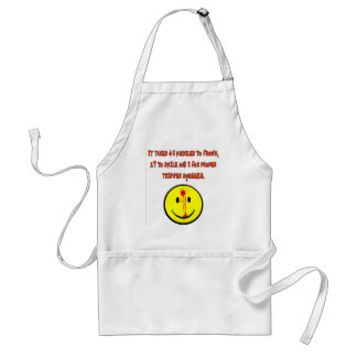 IT TAKES 43 MUSCLES TO FROWN APRONS