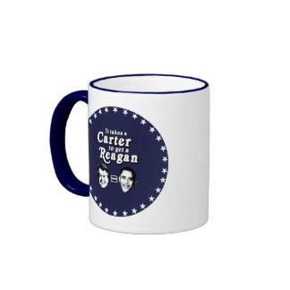 It takes a Carter to get a Reagan Ringer Coffee Mug