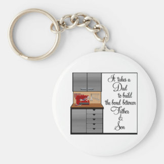 It Takes A Dad (2) Basic Round Button Keychain