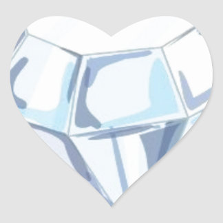 It Takes a Diamond to Cut a Diamond Heart Sticker