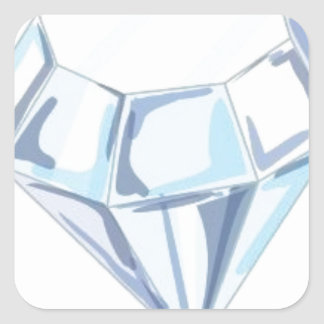 It Takes a Diamond to Cut a Diamond Square Sticker