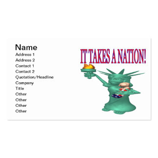 It Takes A Nation Double-Sided Standard Business Cards (Pack Of 100)