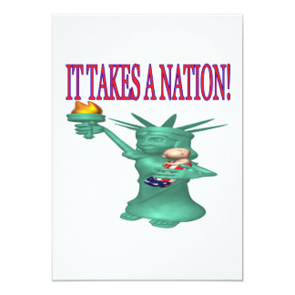 It Takes A Nation 5x7 Paper Invitation Card