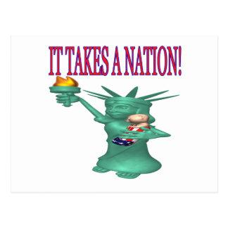 It Takes A Nation Postcard