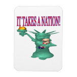 It Takes A Nation Rectangle Magnet