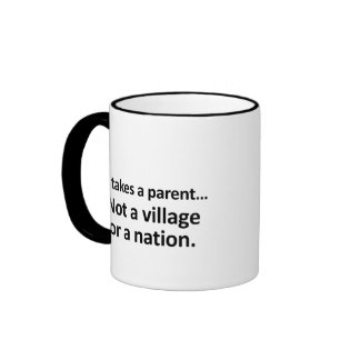 It takes a parent 2 coffee mugs