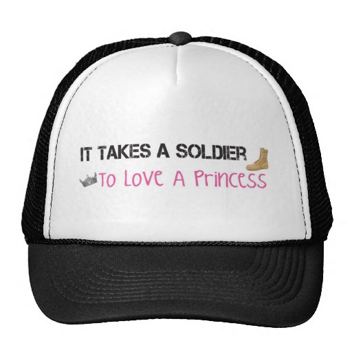 It Takes A Soldier To Love A Princess Mesh Hat