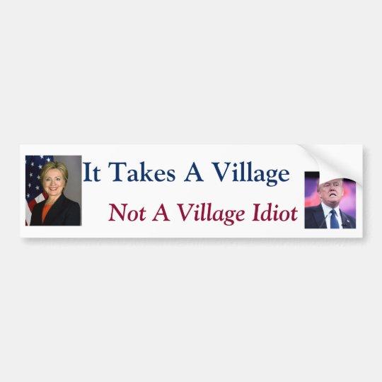It Takes A Village Bumper Sticker Zazzle Com
