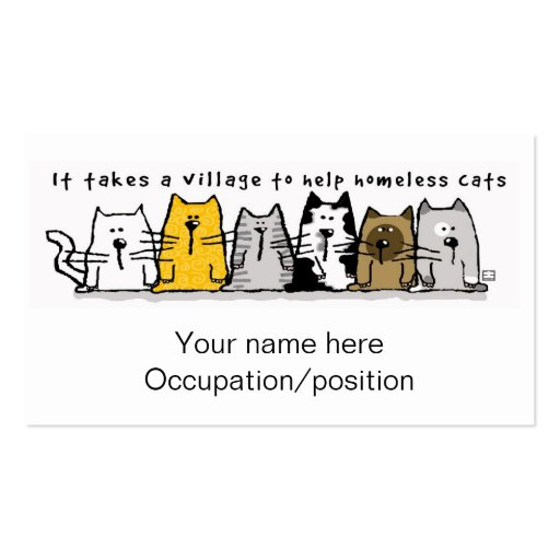 It Takes a Village Cats Business Card | Zazzle: www.zazzle.com/it_takes_a_village_cats_business_card...
