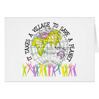It Takes A Village Ecology Greeting Card