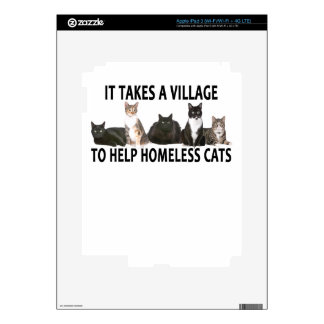 IT TAKES A VILLAGE TO HELP HOMELESS CATS . iPad 3 DECAL