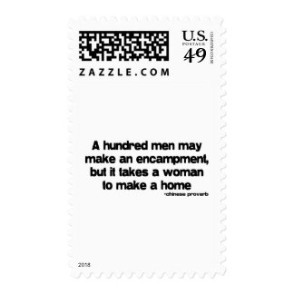 It Takes a Woman quote Stamps