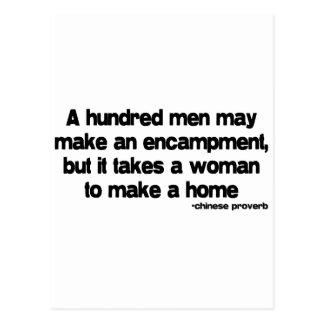 It Takes a Woman quote Postcard