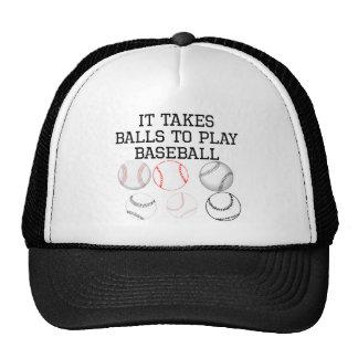 It Takes Balls To Play Baseball Mesh Hats