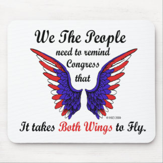It Takes Both Wings to Fly Mouse Pad