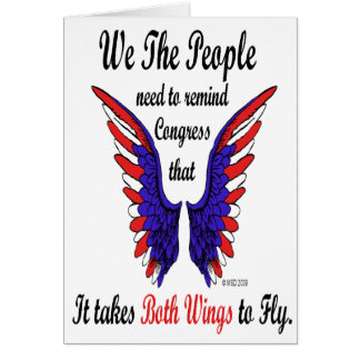It Takes Both Wings to Fly Notecards Card