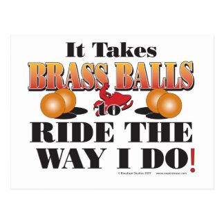 IT-TAKES-BRASS-BALLS POSTCARD