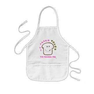 """It takes Dough"" Animated (pink) Baking Kids' Apron"