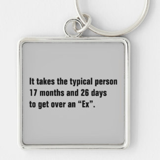 It Takes The Typical Person 17 Months And … Keychain