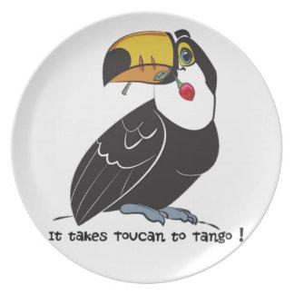 It takes toucan to tango plate