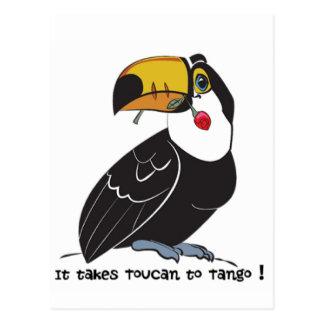 It takes toucan to tango postcard