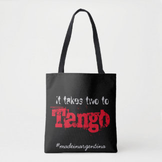 It takes two to tango tote bag