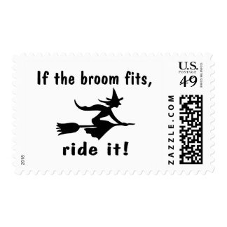 It The Broom Fits Ride It Postage Stamp