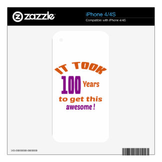 It took 100 years to get this awesome ! decal for the iPhone 4