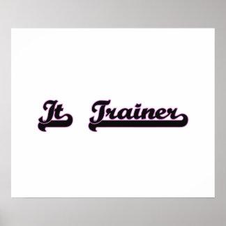 It Trainer Classic Job Design Poster