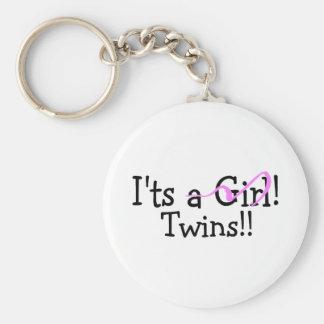 It Twins (Girls) Basic Round Button Keychain
