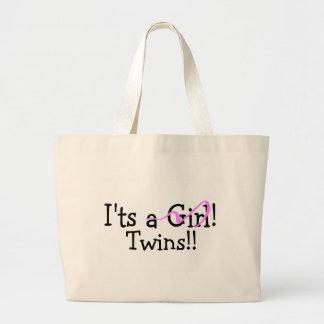 It Twins (Girls) Large Tote Bag