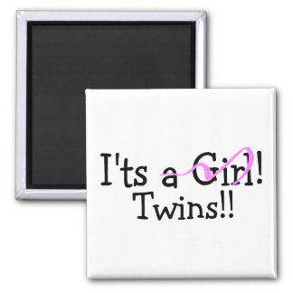It Twins (Girls) 2 Inch Square Magnet