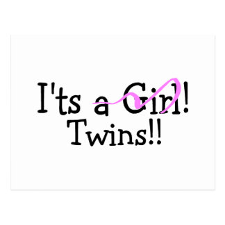 It Twins (Girls) Postcard
