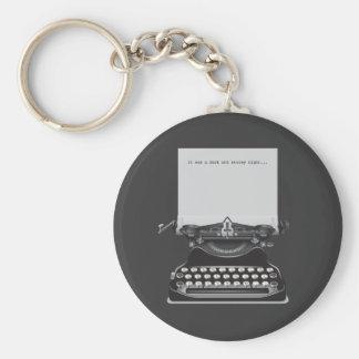 It was a Dark and Stormy Night Basic Round Button Keychain